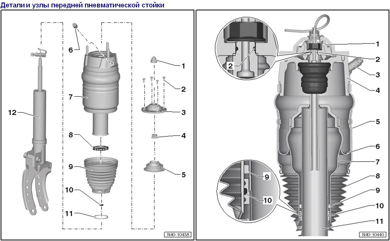 384Пневмостойки ремонт своими руками