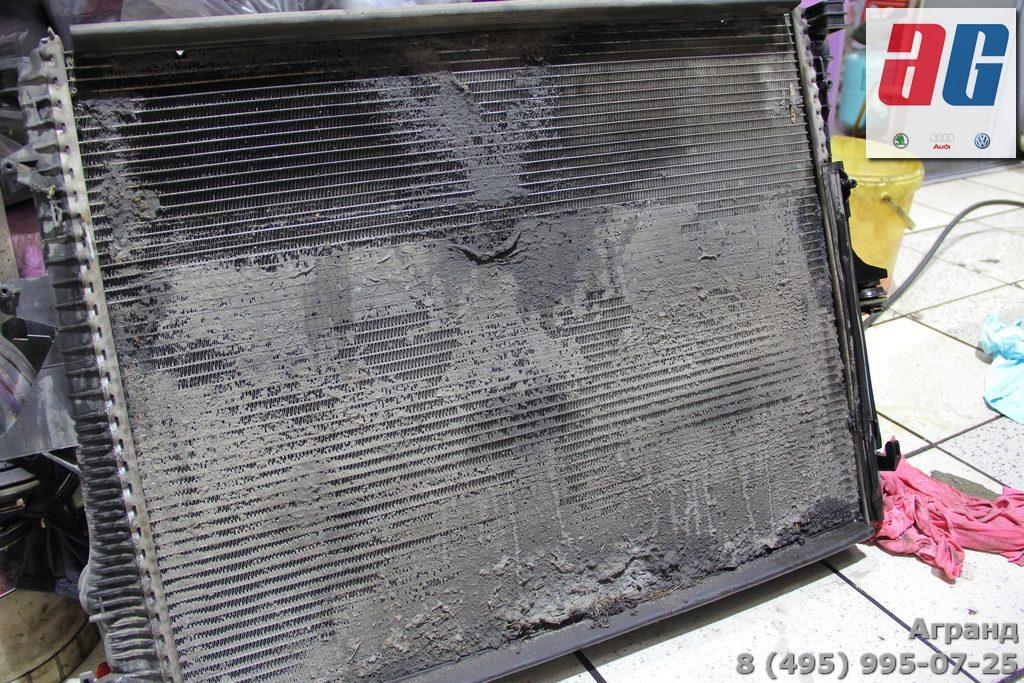 туарег замена радиатора кондиционера