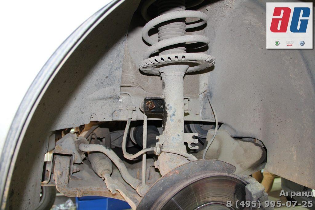 замена передних амортизаторов фольксваген Т5